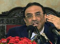 Pakistan's newly elected President Asif Zardari (photo: AP)