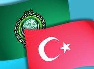 Flags Turkey and Arab League