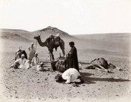 In the desert - historic photograph by Felix Bonfils (photo: collection Thomas Walther)