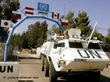 Headquarter of the UN at Golan (photo: dpa)