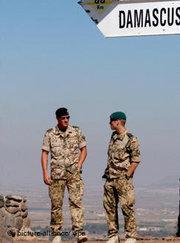 Blue berets at the Golan (photo: dpa)