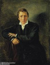 Heinrich Heine, painted by Moritz Daniel Oppenheim (photo: Bildarchiv Preussischer Kulturbesitz)