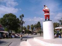 Santa Claus sculpture at square in front of the Saint Nicolas church in Demre, Turkey (photo: Wikipedia)