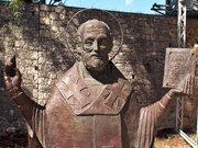 Russian Orthodox statue of Saint Nicolas, now in a corner near the church in Demre (photo: Wikipedia)