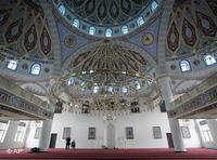 Interior of the Merkez Mosque in Duisburg, Germany (photo: AP)