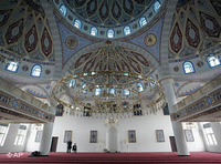 Interior of the Merkez Mosque in Duisburg, Germany (photo: AP)