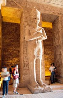 Ramses statue in Abu Simbel, Egypt (photo: Wikipedia)