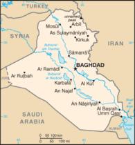 Map of Iraq (source: Wikipedia)