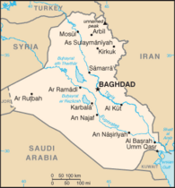 Map of Iraq (source: Wikipedia)