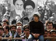 Young people attending Revolution Day celebrations in Teheran (photo: DW/dpa)