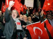 AKP supporters in Ankara (photo: AP)