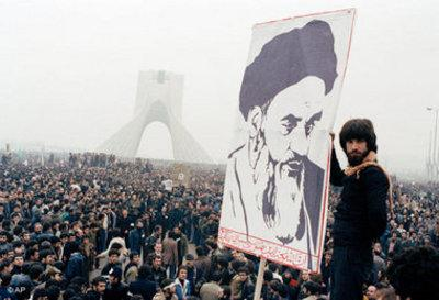 Anti-Shah demonstration at the Azadi-square in Teheran (photo: AP)