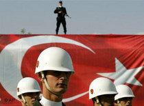 Soldiers in the Turkish army commemorating Republic Day in Istanbul (photo: AP)