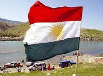 Kurdish flag in Dukan, near the city of Sulemania (photo: AP)