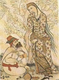 Ibn Sina receiving wisdom from a muse in a medieval drawing (photo: npb)