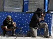 Members of the Mahdi militia in Sadr City, Baghdad (photo: AP)