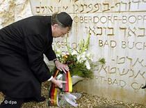 German President Horst Köhler at the Yad Vashem Memorial (photo:dpa)