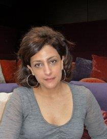 The palestinian director Najwa Najjar (photo: Antje Bauer)