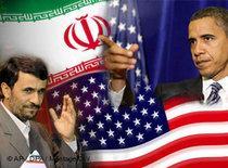 Barack Obama and Mahmoud Ahmadinejad (photo: AP)