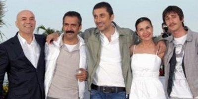 Nuri Bilge Ceylan and his cast in Cannes, France