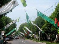 Election campaign flags of Indonesia's United Development Party, PPP (photo: Christina Schott)