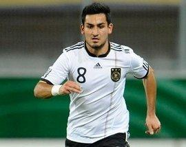 Ilkay Gündogan playing for the German national team (photo: dpa)