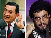 President Hosni Mubarak of Egypt and Sheikh Hassan Nasrallah, Secretary-General of Hezbollah (photo: AP)