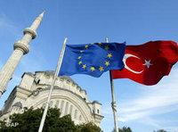 European and Turkish flags (photo: AP)
