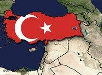 Map of Turkey with a Turkish flag (photo: AP/DW)