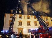 Fire rages through the Duchess Anna Amalia Library in September 2004 (photo: AP)