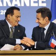 Egyptian President Hosni Mubarak and his counterpart Nicolas Sarkozy (photo: dpa)