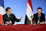 France's President Sarkozy and his Syrian counterpart Al Assad (photo: picture alliance/ dpa)