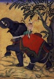 Akbar the Great taming an elephant, Berlin Staatliche Museen (source: wikipedia)