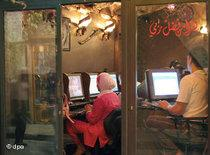 Internet café in Damascus (photo: dpa)