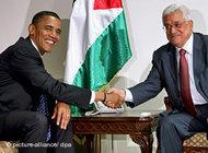 Barack Obama and Mahmud Abbas (photo: dpa)