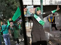 A female supporter of Mirhossein Mussawi in Teheran (photo: dpa)