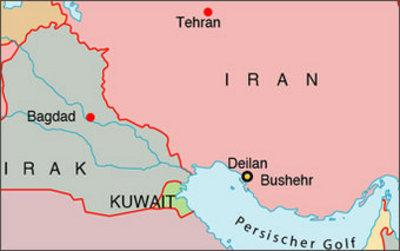 Map of Iran and Iraq (photo: AP)