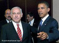 Benjamin Netanyahu and Barack Obama in Jerusalem (photo: dpa)