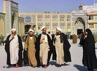 Ayatollahs in Qom (photo: AP)