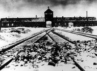 View along the railway line leading to Auschwitz concentration camp, photo taken at the end of January 1945 (photo: AP)