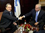 Ehud Barak (left) and Benjamin Netanyahu in Jerusalem (photo: dpa)