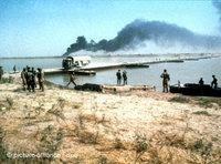 Iraqi attack on the Iranian port of Khorramshahr during the Iranian-Iraqi War in 1980 (photo: dpa)