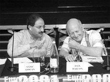 Sami Adwan and Dan Bar-On (photo: Unacitta.it)