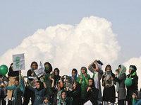 Mousavi supporters demonstrating in Tehran (photo: AP)