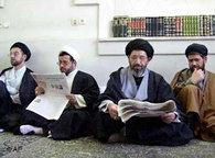 Shia scholars in Qom (photo: AP)