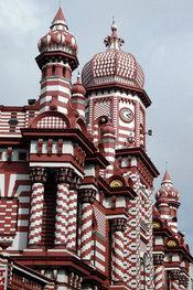 The Jami Ul Alfar Mosque in Colombo, the country's capital (photo: Wikipedia)