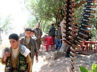 PKK militiamen in Northern Iraq, close to the border to Turkey (photo: AP)