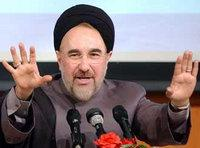 Mohammed Khatami during a speech given at the University of Tehran in 2004 (photo: AP)