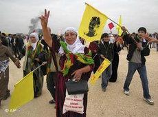Thousands of Kurds celebrate Newroz in Diyarbakir, Turkey (photo: AP)