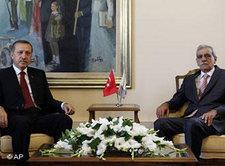 Recep Tayyip Erdoğan and Kurdish DTP leader Ahmet Türk (photo: AP)